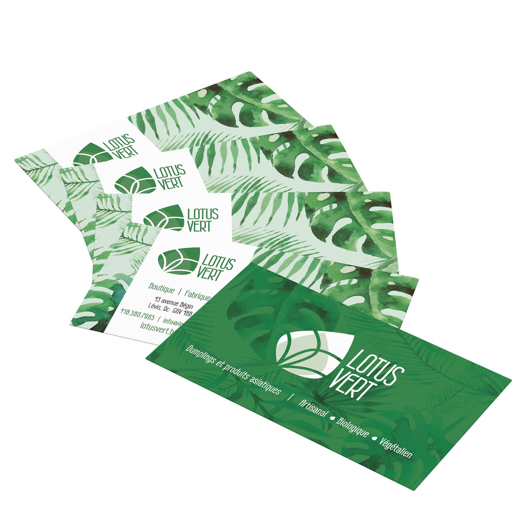 Cartes Lotus Vert