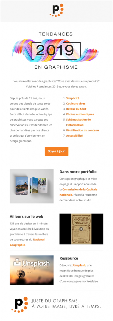 Exemple infolettre