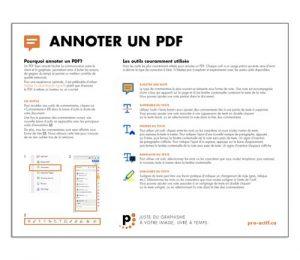 Fiche Annoter un PDF