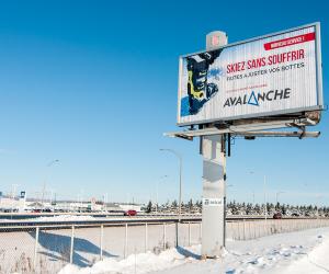 Graphisme: Panneau publicitaire pour Avalanche