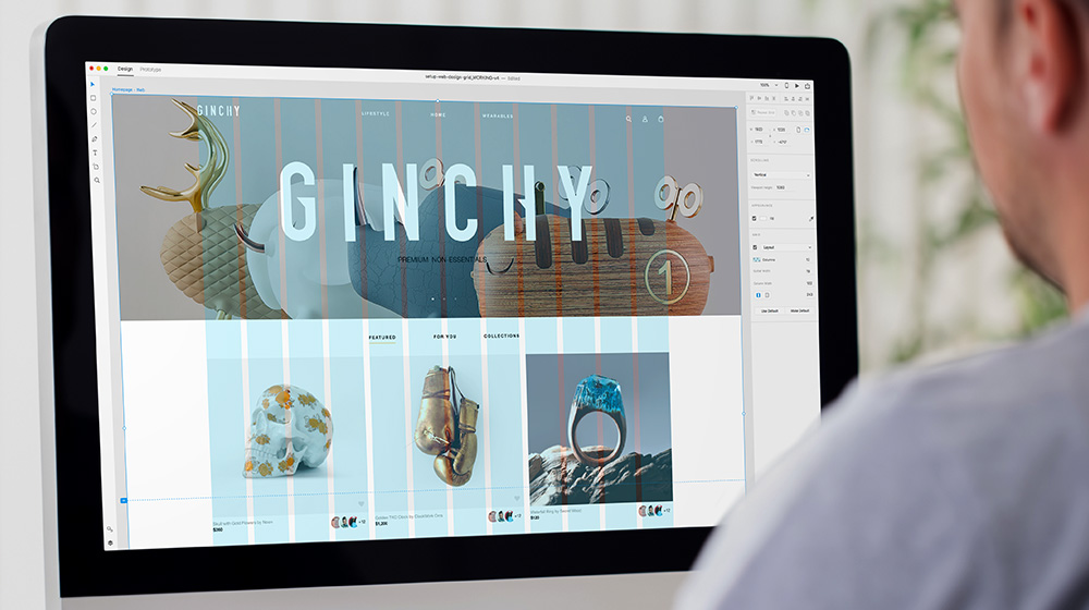 Utilisation d'une grille dans Adobe Indesign