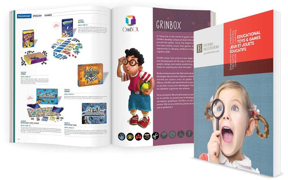 Catalogue pour un magasin de jouet
