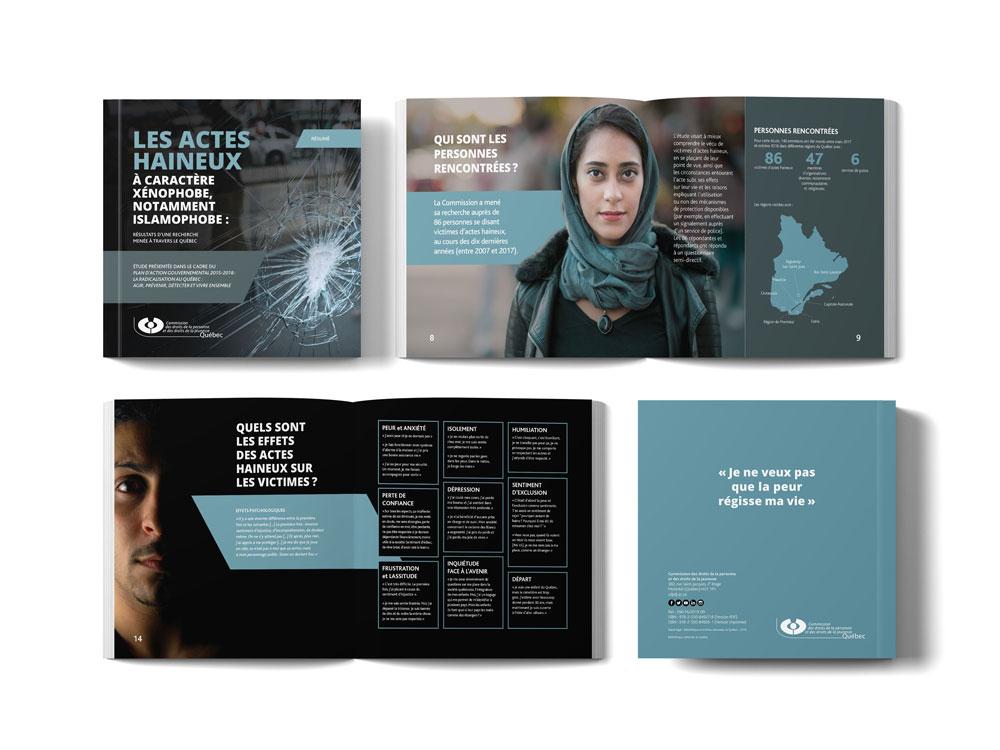 Brochure pour sensibiliser sur les crimes haineux