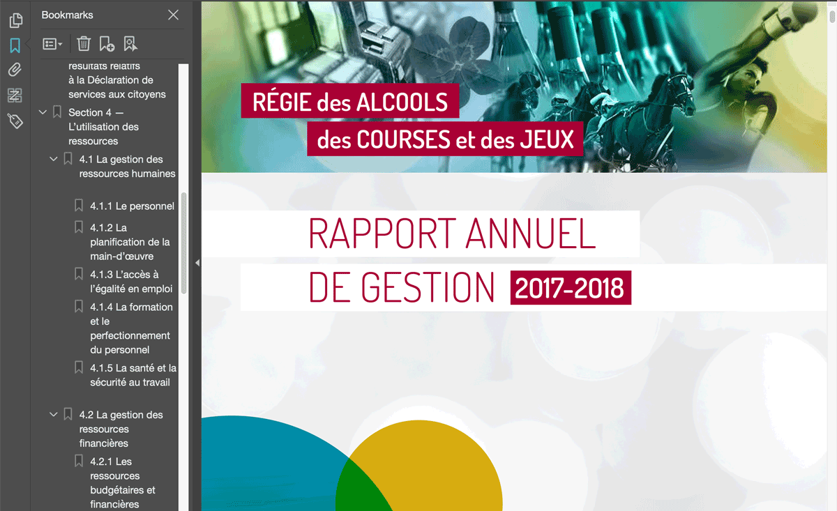 Rapport annuel accessible: RACJQC